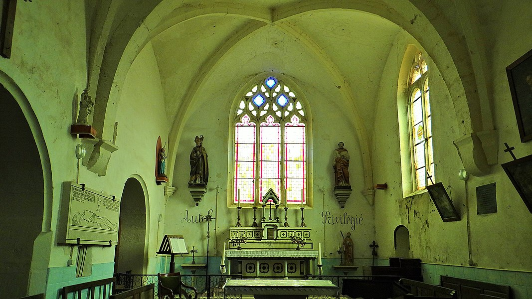 Église de Sarry, intérieur