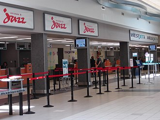 Saskatoon John G. Diefenbaker International Airport - Check-in for Air Canada and WestJet