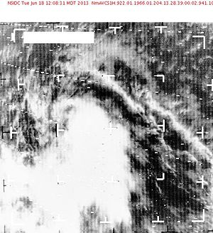 1966 Atlantic hurricane season - Image: Sat 196607231329Ella