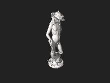 Why was davids dontello cast in bronze