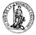 Sceau de la République décret abolition esclavage 16 pluviôse an II (4 février 1794).png