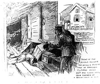 Robert Charles riots - Sketch of the scene at Robert Charles' residence on the 2000 block of Fourth Street.