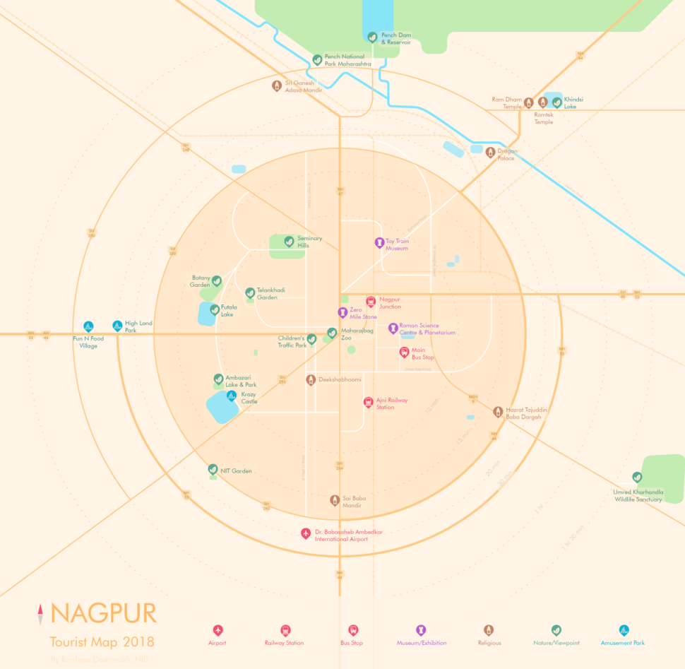 Schematic Tourist Map- Nagpur