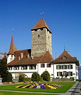 castle in the municipality of Spiez in the Swiss canton of Bern