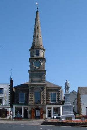 Selkirk, Scottish Borders - Sir Walter Scott's Courthouse in Selkirk Market Place
