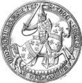 Seal of Sir Thomas de Beauchamp (1344), Earl of Warwick, died 1369.png