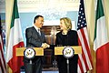 Secretary Clinton and Italian Foreign Minister Frattini Shake Hands (5596772262).jpg