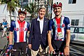 Secretary Kerry Poses For A Photo With U.S. Men's Road Cycling Competitors at the 2016 Summer Olympic Games (28772461986).jpg