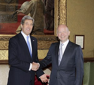 William Hague - Hague met Clinton's successor, Secretary of State John Kerry, in 2013.