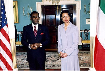 Secretary Rice and President Obiang