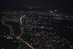 Section of Kandahar at night in 2011.jpg