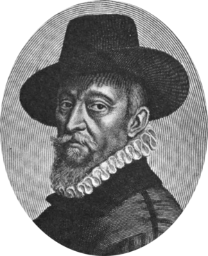 François Quesnel - François Quesnel, self-portrait, 1613, engraved by Michel Lasne