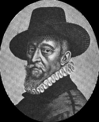 François Quesnel - François Quesnel, self-portrait, 1613, engraved by Michel Lasne