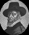 Self-portrait of François Quesnel engraved by Michel Lasne - Hustin 1910 pIX - HathiTrust (detail).png