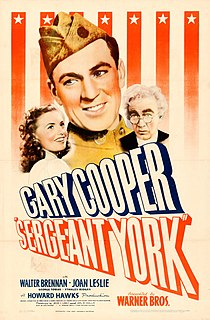 <i>Sergeant York</i> (film) 1941 biographical film directed by Howard Hawks
