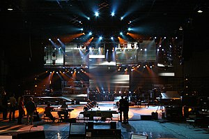 Best of Both Worlds Tour - The stage being set up before showtime.