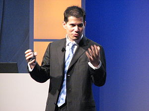 Shai Agassi presenting at the EMEA Enterprise ...