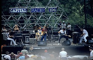 Shakatak - Shakatak performing at Knebworth Park as part of the Capital Radio Jazz Festival, 1982.