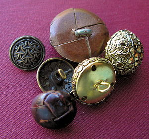 Shank (sewing) - Buttons with shanks.