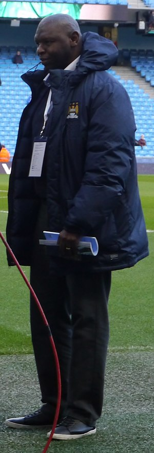 Shaun Goater - Goater at the Etihad Stadium in February 2015, prior to Manchester City's league game against Newcastle United