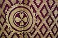 Shawl, Varanasi, Uttar Pradesh, India, view 2, late 19th to early 20th century, silk, gold thread - Textile Museum of Canada - DSC00969.JPG