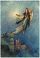 She took up the jewel in her hand, left the palace, and successfully reached the upper world.jpg