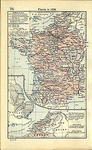 Burgundy within 14th century France, map by William R. Shepherd.