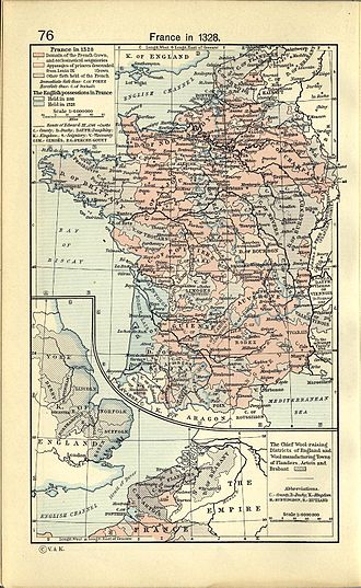 Territorial evolution of France - France in 1328