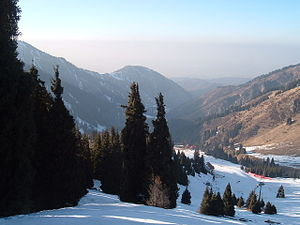 Almaty bid for the 2022 Winter Olympics - Shymbulak, planned venue for alpine skiing.