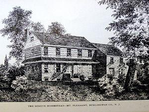 "Mount Pleasant, Burlington County, New Jersey - ""The Shreve Homestead- Mt. Pleasant, Burlington Co., N. J."""