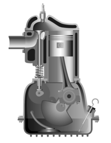 Side valve engine with Ricardo's turbulent head 02.png