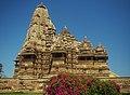 Side view of Kandariya temple belonging to Western Group of Temples at Khajuraho in Madhya Pradesh.jpg