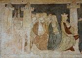 Siedlęcin Wieża Książęca Gotyckie malowidła ścienne Zamek Camelot i Królowa Ginewra.JPG