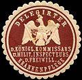 Siegelmarke Delegirter des Königlichen Kommissars des Militärischen Inspecteurs der Freiwilligen Krankenpflege W0246333.jpg