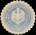 Siegelmarke Der Reichs-Kommissar für die Welt-Ausstellung in Chicago 1893 W0345479.jpg
