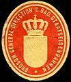 Siegelmarke Grossherzogliche General - Direction der Badischen Staatseisenbahnen W0229634.jpg