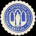Siegelmarke Königliche & Universitäts Bibliothek Breslau W0310697.jpg