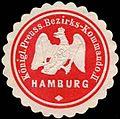 Siegelmarke K.Pr. Bezirks-Kommando II Hamburg W0283719.jpg