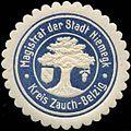 Siegelmarke Magistrat der Stadt Niemegk - Kreis Zauch-Belzig W0309627.jpg
