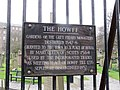 Sign on the Howff - geograph.org.uk - 1801222.jpg