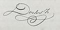 Signature de Jules Duclos (maire), 1865.jpg