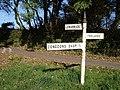 Signpost near Trelaske - geograph.org.uk - 589588.jpg