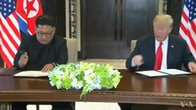 File:Singapore Summit- Trump-Kim Signing Ceremony.webm