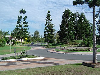 Sinnamon Park, Queensland - Sinnamon Road and roundabout