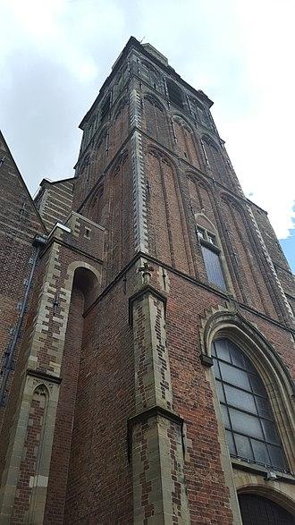 Sint Janskerk - Churchtower of the Sint-Janskerk in Gouda