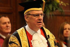 Newcastle University - Sir Liam Donaldson robed as Chancellor of Newcastle University.