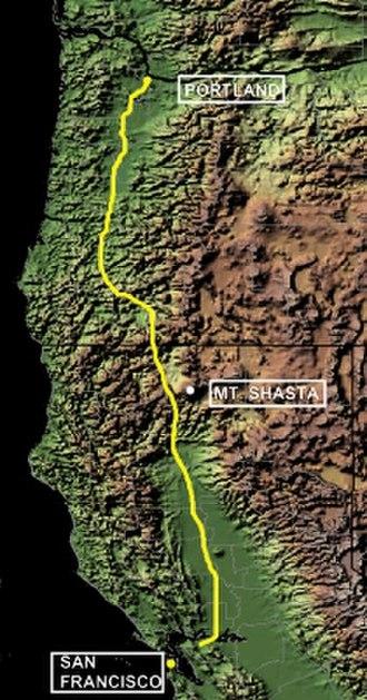 Siskiyou Trail - Siskiyou Trail from Portland, Oregon, to San Francisco, California
