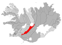 Location of the Municipality of Skeiða- og Gnúpverjahreppur