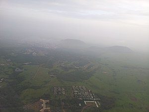 Pune - Aerial view of Pune near its airport