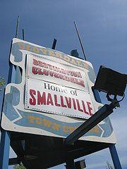 Hinweisschild der Stadt Cloverdale.